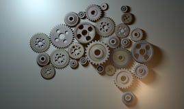 Australian Cogwheel Machine Royalty Free Stock Images