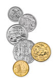 Australian Coins. High resolution composite photo of current Australian coins Stock Photos