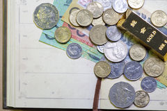 Australian coins. And gold bars Stock Photography