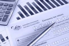Australian Company Tax Return Stock Photography