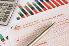 Australian Company Tax Return Royalty Free Stock Photography