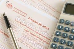 Australian Company Tax Return Stock Images