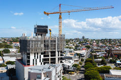 Australian construction site with screen system during the day Stock Photography