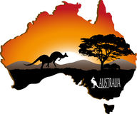 Australian continent Royalty Free Stock Photos