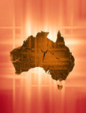 Australian Continent. The Australian continent with a warm tone Royalty Free Stock Images
