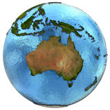 Australian continent on Earth Royalty Free Stock Image