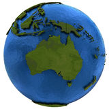 Australian continent on Earth Royalty Free Stock Photo
