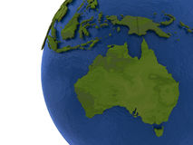 Australian continent on Earth Royalty Free Stock Photography