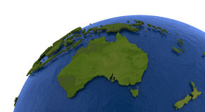 Australian continent on Earth Royalty Free Stock Images
