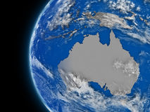 Australian continent on political globe Royalty Free Stock Image