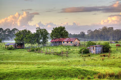 Australian Country Barn Scene Stock Image