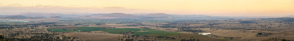 Australian Country Panorama Royalty Free Stock Photography