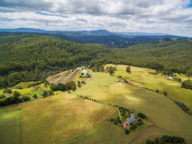 Australian countryside aerial landscape. Royalty Free Stock Photos
