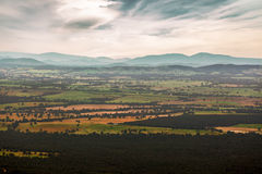 Australian countryside - fields, hills, forests Stock Image