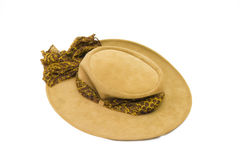 Australian cowgirl hat. Isolated australian pigskin cowgirl hat Royalty Free Stock Photography