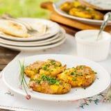 Australian Crash Hot Potatoes with Sour Cream Stock Photo