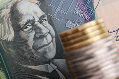Australian currency. stock photography