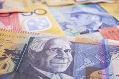 Australian Currency Background stock photography