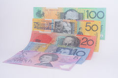 Australian Currency Banknotes All Denominations Royalty Free Stock Photography