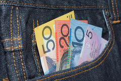 Australian Currency Banknotes Denominations Royalty Free Stock Photography