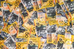 Australian Currency close-up Royalty Free Stock Images