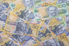 Australian Currency close-up. Australian banknotes close-up, financial royalty free stock image