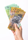 Australian Currency close-up Stock Images