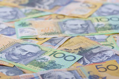 Australian Currency close-up Stock Photos