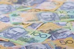 Australian Currency close-up Stock Photos