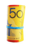 Australian Currency Roll Royalty Free Stock Photography