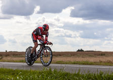 The Australian Cyclist Evans Cadel. Beaurouvre,France,21st 2012:The Australian cyclist Evans Cadel from BMC Racing Team pedaling during the 19th stage of Le Tour Stock Image