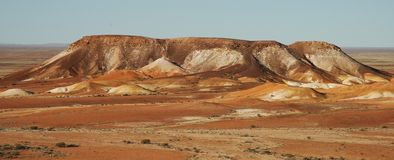 Australian Desert. A mountain sticking out of the desert in outback Southern AUstralia Stock Photography