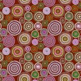Australian design with dots - circles, waves. Seamless pattern. Australian design with dots - circles and waves. Seamless pattern. Hand painting Royalty Free Stock Photo