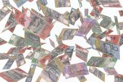 Australian dollar in air. 3d illustration Royalty Free Stock Photos
