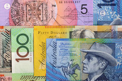 Australia currency money, Australian dollar background Royalty Free Stock Photo