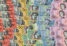 Australian dollar bank notes stock photos