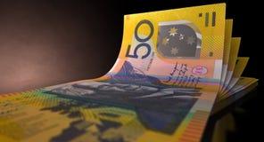 Australian Dollar Bank Notes Spread Stock Photography
