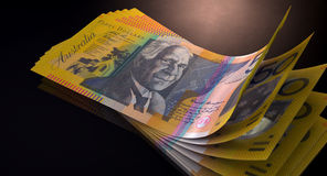 Australian Dollar Bank Notes Spread Royalty Free Stock Image