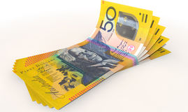 Australian Dollar Bank Notes Spread Stock Photography