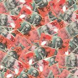 20 Australian Dollar Banknotes stock photos