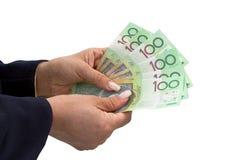 Australian dollar banknotes Stock Images