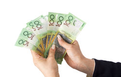 Australian dollar banknotes Stock Photos