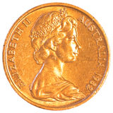 Australian dollar cents coin Stock Images