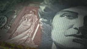 Australian Dollar Close-up stock footage