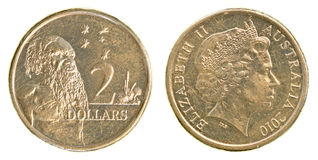 2 Australian dollar coin Stock Photography