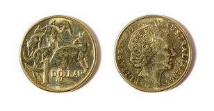 Australian dollar coin Stock Photography