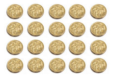 Australian dollar coins Royalty Free Stock Image