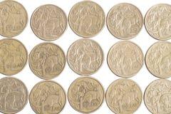 Australian Dollar coins. Close up of many Australian Dollar coins Stock Photography
