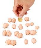 Australian Dollar Hand Money Piggy Royalty Free Stock Image