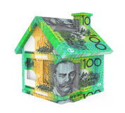 Australian Dollar House Isolated. Isolated on white background. 3D render Royalty Free Stock Image